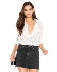 Equipment | White Kate Moss For Brett Polka Dot Button Up | Lyst