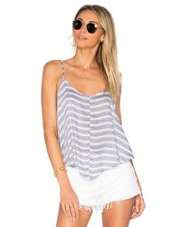 Free People | Blue Crossroads Cami Striped | Lyst