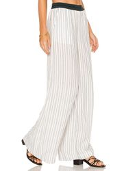 Free People | White Wide Leg Pull On Pant | Lyst