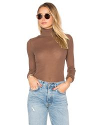Free People | Brown Modern Cuff Layering Top | Lyst