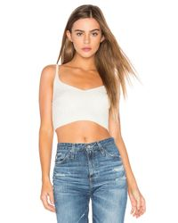 Free People | White Corset Detail Swit Cami | Lyst