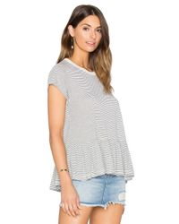 The Great - Gray The Ruffle Tee - Lyst