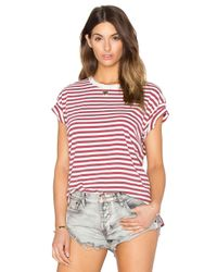 The Great - Red The Boxy Crew Tee - Lyst
