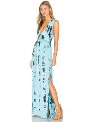 Gypsy 05 - Blue V Neck Open Back Maxi Dress - Lyst