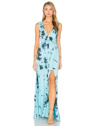 Gypsy 05 - Blue V Neck Open Back Maxi Dress - Lyst