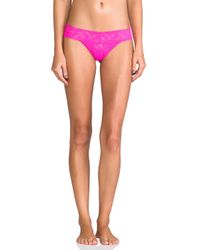 Hanky Panky | Pink Low Rise Thong | Lyst