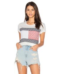 Tommy Hilfiger | White Daisy Lace Flag Tee | Lyst