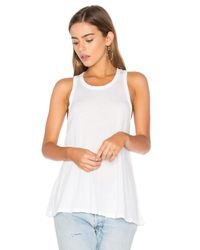 James Perse | White Jersey A-line Tank | Lyst