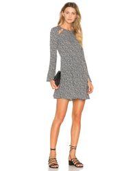 Line & Dot   Black Camellia Slash Dress   Lyst