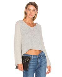 Line | Gray Drew Bell Sleeve Sweater | Lyst