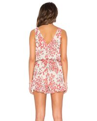 Lucca Couture - Pink Mini Ruffles Sleeveless Romper - Lyst