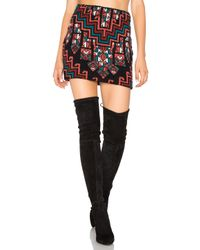 Mara Hoffman | Multicolor Bolnisi Rug Knit Mini Skirt | Lyst