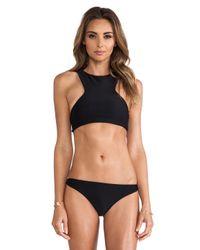 Mikoh Swimwear | Black Swimwear Barbados Bikini Top | Lyst