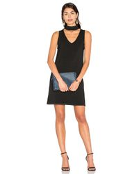 MILLY | Black Italian Structured Shift Dress | Lyst