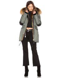 Nicole Benisti - Gray Melrose Golden Fox And Asiatic Rabbit Fur Lined Mini Parka - Lyst
