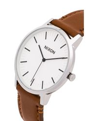 Nixon - Brown The Porter Leather - Lyst