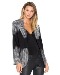 Norma Kamali | Multicolor Single Breasted Bonded Jacket | Lyst