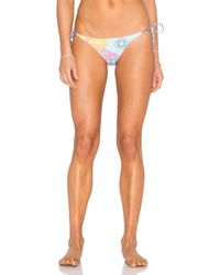 OndadeMar | Purple Side Tie Ruffle Bikini Bottom | Lyst
