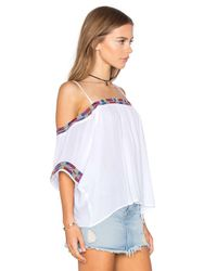 Piper - Black Xico Beaded Cold Shoulder Top - Lyst