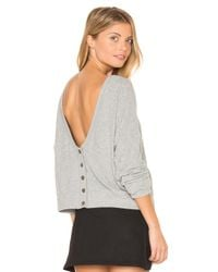 Project Social T - Gray Index Button Back Cardigan - Lyst