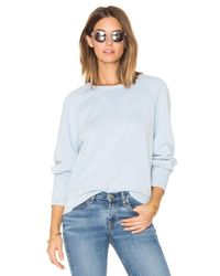 Rag & Bone | Blue Washed Classic Pullover | Lyst