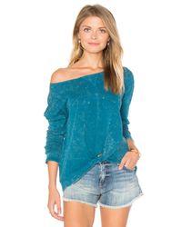 RVCA | Blue Donna Sweatshirt | Lyst