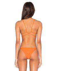 Salt Swimwear | Orange Stacia Bikini Top | Lyst