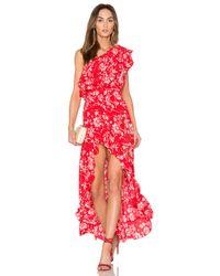 Steele | Red Wildflower Shoulder Dress | Lyst
