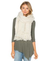 Tejido | White Boucle Scarf | Lyst