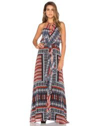 Twelfth Street Cynthia Vincent | Multicolor Front Ruffle Maxi Dress | Lyst