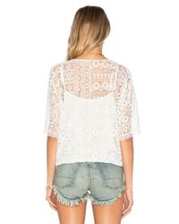 Twelfth Street Cynthia Vincent - White Geo Lace Blousant Top - Lyst