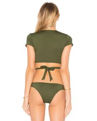 Vitamin A - Green Ballerina Wrap Top - Lyst
