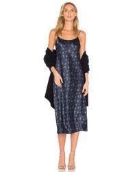 Vince   Blue Floral Slip Dress   Lyst