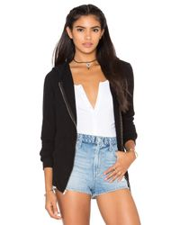 Wildfox | Black Basics Zip Up Jacekt | Lyst