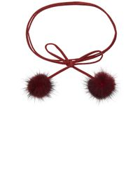 8 Other Reasons - Multicolor Rabbit Fur Pom Pom Wrap Necklace - Lyst