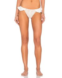 For Love & Lemons - White St. Tropez Bikini Bottom - Lyst