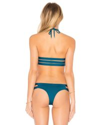 Vitamin A | Blue Camilla Cross Neck Top | Lyst