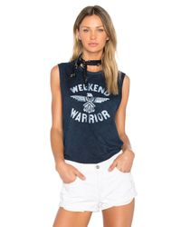 Tyler Jacobs - Blue Weekend Warrior Cut Off Tank - Lyst