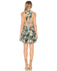 Free People | Black Daydream Mini Printed Dress | Lyst