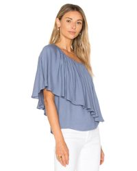 Ella Moss - Blue Stella One Shoulder Top - Lyst