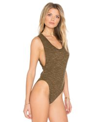 Free People - Green Secret Sides Bodysuit - Lyst