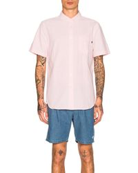 Obey - Pink Dissent Ii S/s Shirt for Men - Lyst