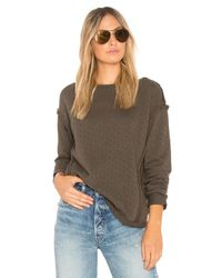 Michael Stars - Multicolor Perforated Terry Reversible Top - Lyst