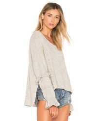 One Teaspoon - Gray Jethro Fringed Knit Sweater - Lyst