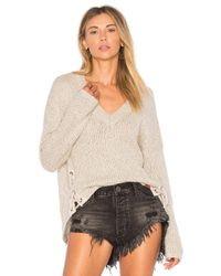 One Teaspoon - Natural Saints And Roses Sweater - Lyst