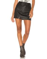 Free People - Black Feelin Fresh Vegan Mini Skirt - Lyst
