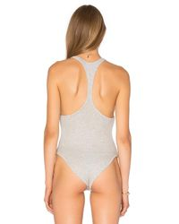Free People - Gray Hooked On You Bodysuit - Lyst