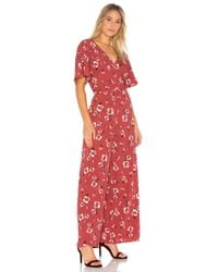 Band Of Gypsies - Pink Poppy Floral Jumpsuit - Lyst