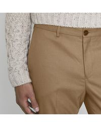 River Island - Brown Skinny Fit Smart Trousers for Men - Lyst