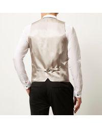 River Island - Black Smart Slim Vest for Men - Lyst